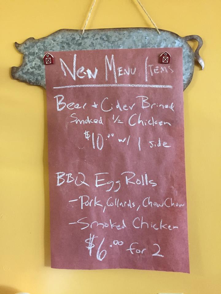 New menu specials